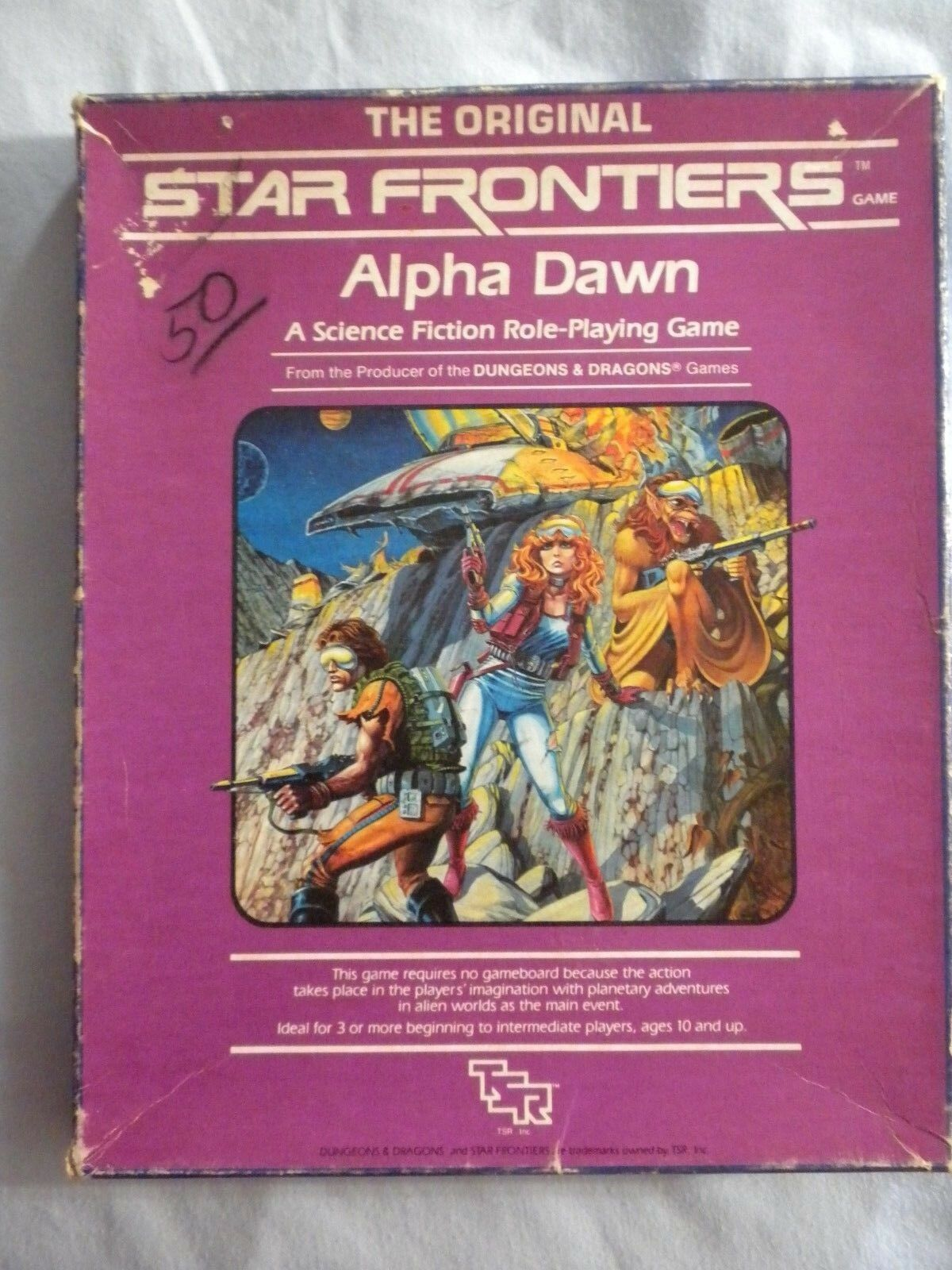 Star Frontiers Alpha Alpha Alpha Dawn Boxed Set 4782dc