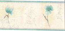 Wall Border Classic Floral Design. Green Cream, 5M Vinyl Wallpaper 15063 home