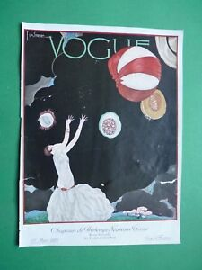 Vogue-France-Magazine-1-Mars-1925-March-Original-Cover-Only-Art-Deco-Lepape-G