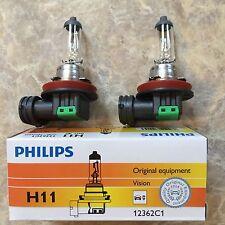 (4) H11 (12V 55W) PHILIPS ORIGINAL EQUIPMENT HALOGEN BULBS (NEW)