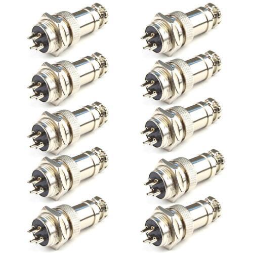 10X4Pin Luftfahrt Stecker Metall Stecker Audio Bipolar Schrittmotor Stecker PW