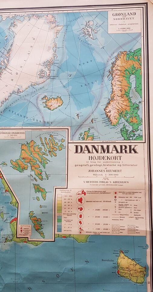 Landkort, Danmark