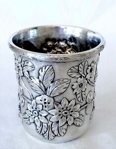 Antique Chinese Export Sterling Silver Cup Figures Silver