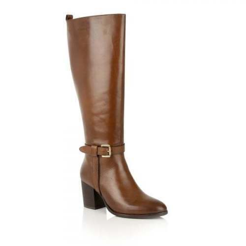 Ravel Knee Leather Heel Flat Ladies High 3 Low Waller Quality Uk Boots Brown dTxU8w