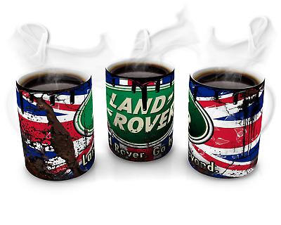 Landrover Retro Union Jack Land Rover Oil Can Mug Car Mechanic original