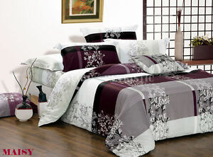 100-Cotton-Queen-King-Super-Size-Bed-Duvet-Doona-Quilt-Cover-Set-New-Ar-T501