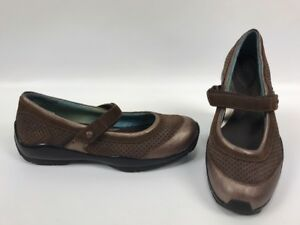 ARIAT-BROWN-METALLIC-LEATHER-MARY-JANES-SHOES-21254-Womens-Size-6-5-B