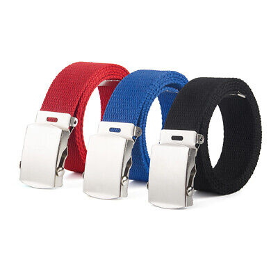 Elastic Children Boy Girl Kid Buckle Belt Waist Band Belt Waistband Webbing Gift