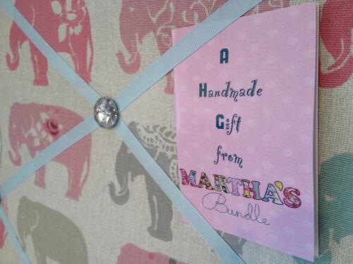 Wildlife Handmade Pin//memo//Notice//Photo Display board Gift choice fabrics Animal