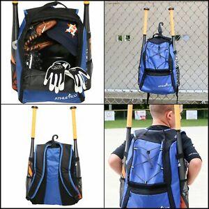 Baseball-Bag-Bat-Backpack-for-Baseball-T-Ball-amp-Softball-Equipment-amp-Gear-Blue