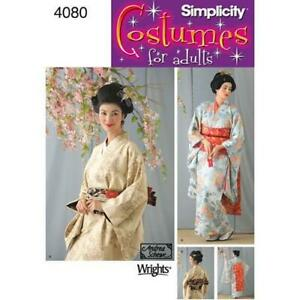 Simplicity-4080-Sewing-PATTERN-Traditional-style-Kimono-Dress-Costume-W-6-12-HH