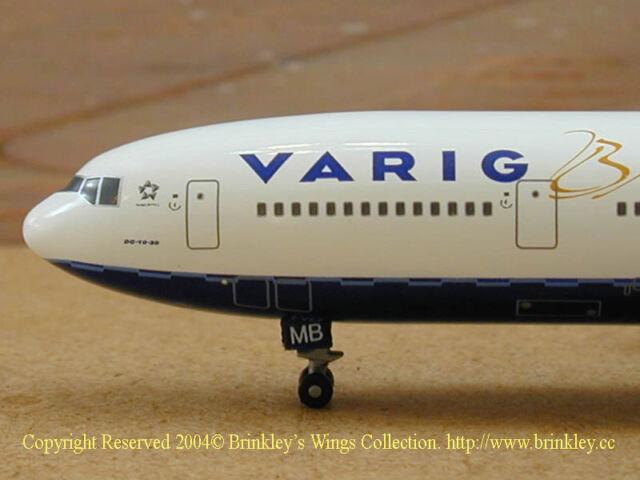 Dragon Wings Brazil Varig DC-10-30F 1:400 diecast commercial plane model 55726