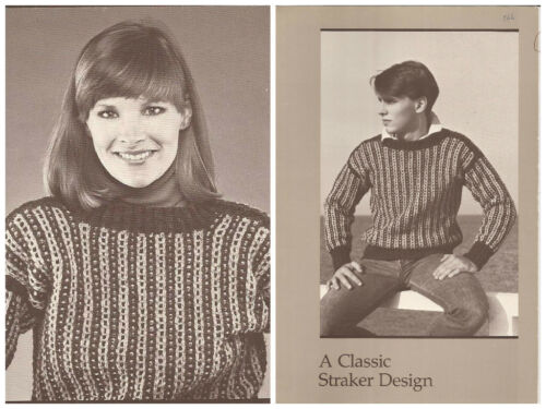 Unisex A STRAKER CLASSIC DESIGN Knitting Pattern #866-P Rocky Road Pullover