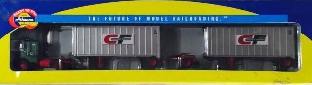 Athearn Consolidated Freightways Freightliner & 2 - 28' Trailers -NEW - HO SCALE