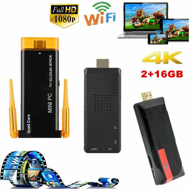 MK809IV Android 7.1 TV Dongle Stick 4K 2G 16G Quad Core WiFi H.265 Mini PC Meida
