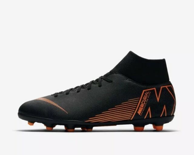 Nike Superfly 6 Club MG Soccer Cleats Mens Size 11.5 Black Orange AH7363-081 e7af2c367
