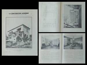 Responsable La Construction Moderne N°31 1932 Neuilly, Louis Sue, Flegenheimer, Villa êTre Nouveau Dans La Conception