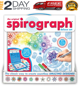 Spirograph Design Set Fun Young Adult Deluxe Original Drawing Art Toy Game Play