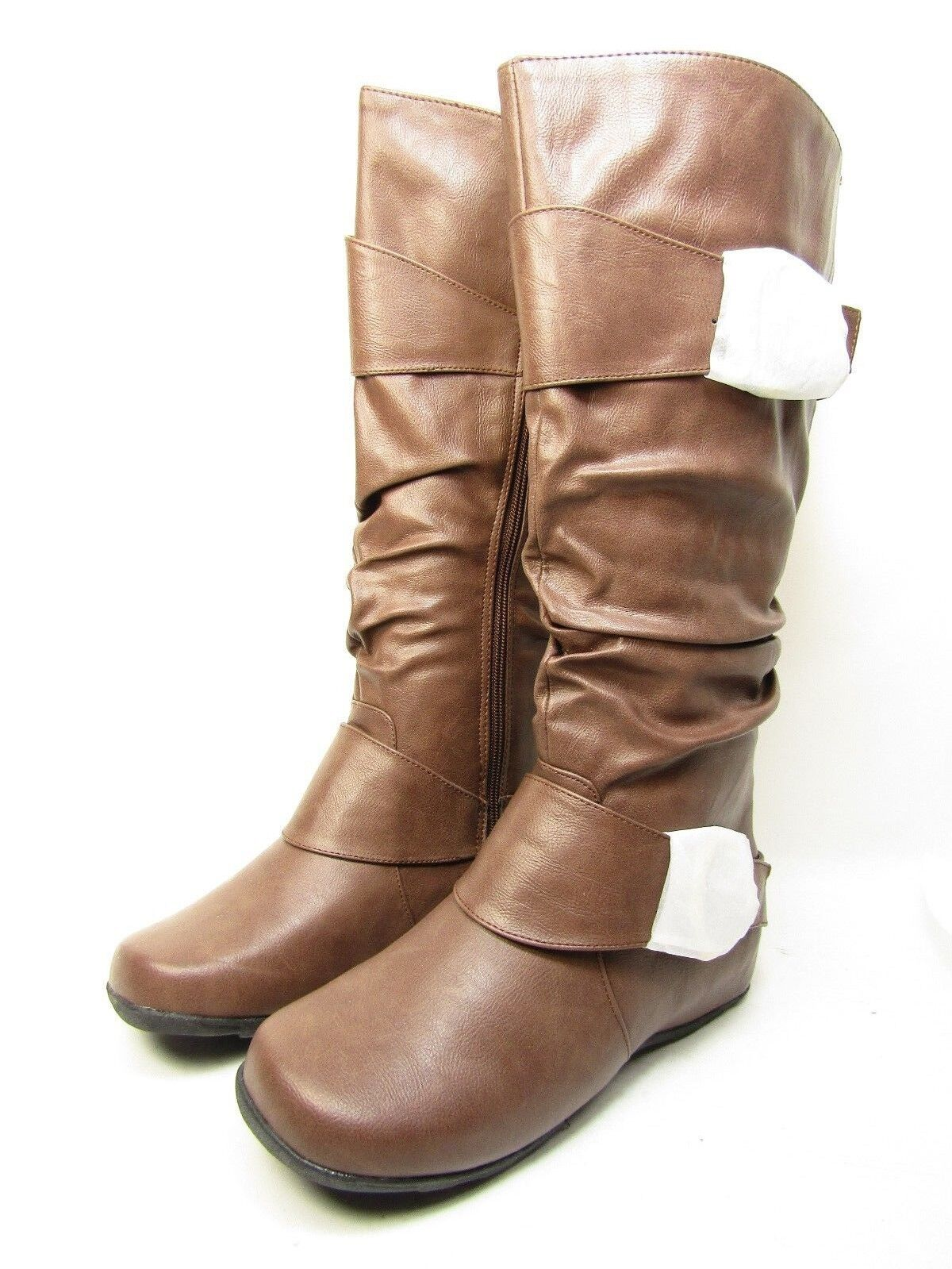 Journee Collection Riding  Paris Womens Slouch Riding Collection Boots Brown Size 7.5 bb6825