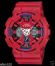 GA-120TR-4A Red Casio Men's Watches G-Shock Analog Digital 200M-WR Resin Band