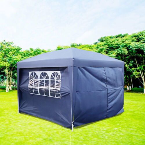 2x2m Waterproof Garden Outdoor Pop Up Gazebo with Sides Marquee Tent Carry Bag