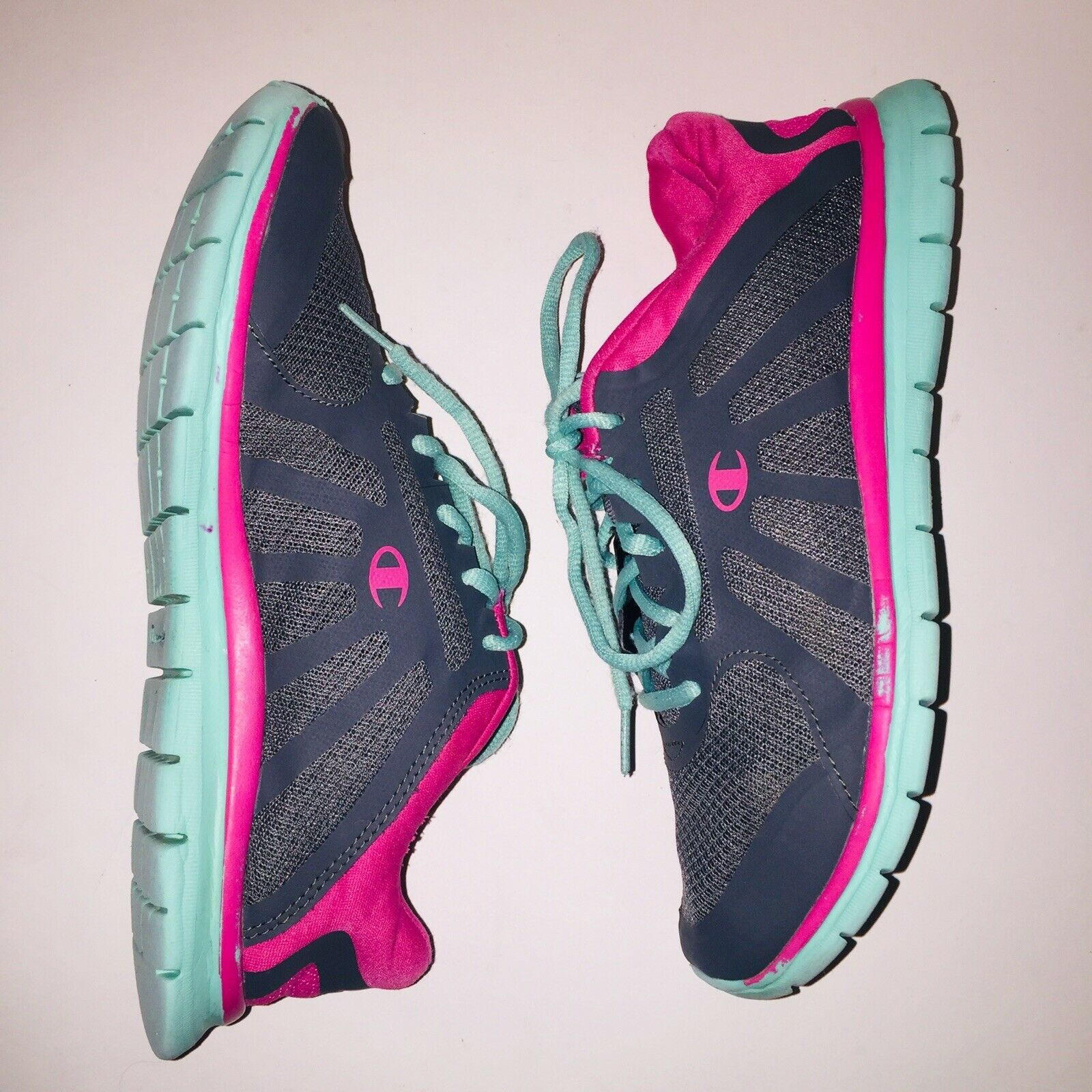 Champion Shoes 5 Womens Cross-fit Training Athletic Lightweight Teal Gray  Pink   eBay