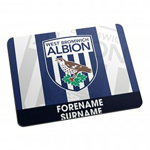 Personalised Mouse Mat West Bromwich Albion F.C BOLD CREST