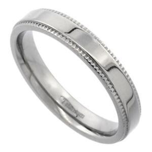 Image Is Loading 4mm Anium Flat Milgrain Wedding Band Ring Highly