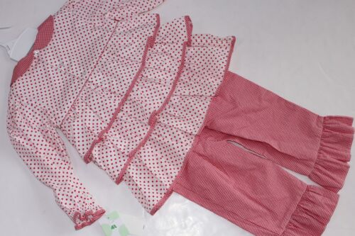 Petit Ami Girls Size 4T Outfit 2PC Ruffle Poinsettia Top NWT Pants