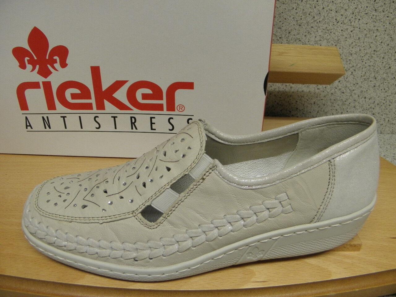 Rieker ® réduit en cuir beige NEUF super confortable TOP PRIX (r219)