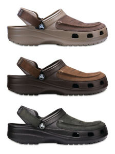 19355bb3f14d5a Image is loading Crocs-Mens-Yukon-Vista-Leather-Top-Croslite-Slip-