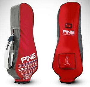 PING-Travel-Cover-Red-Gray-Nylon-PVC-Pouch-Sporting-Goods-Golf-Club-Bag-amga