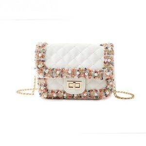 White-lace-pearl-floral-leather-plaid-chic-elegant-chain-cross-body-shoulder-bag