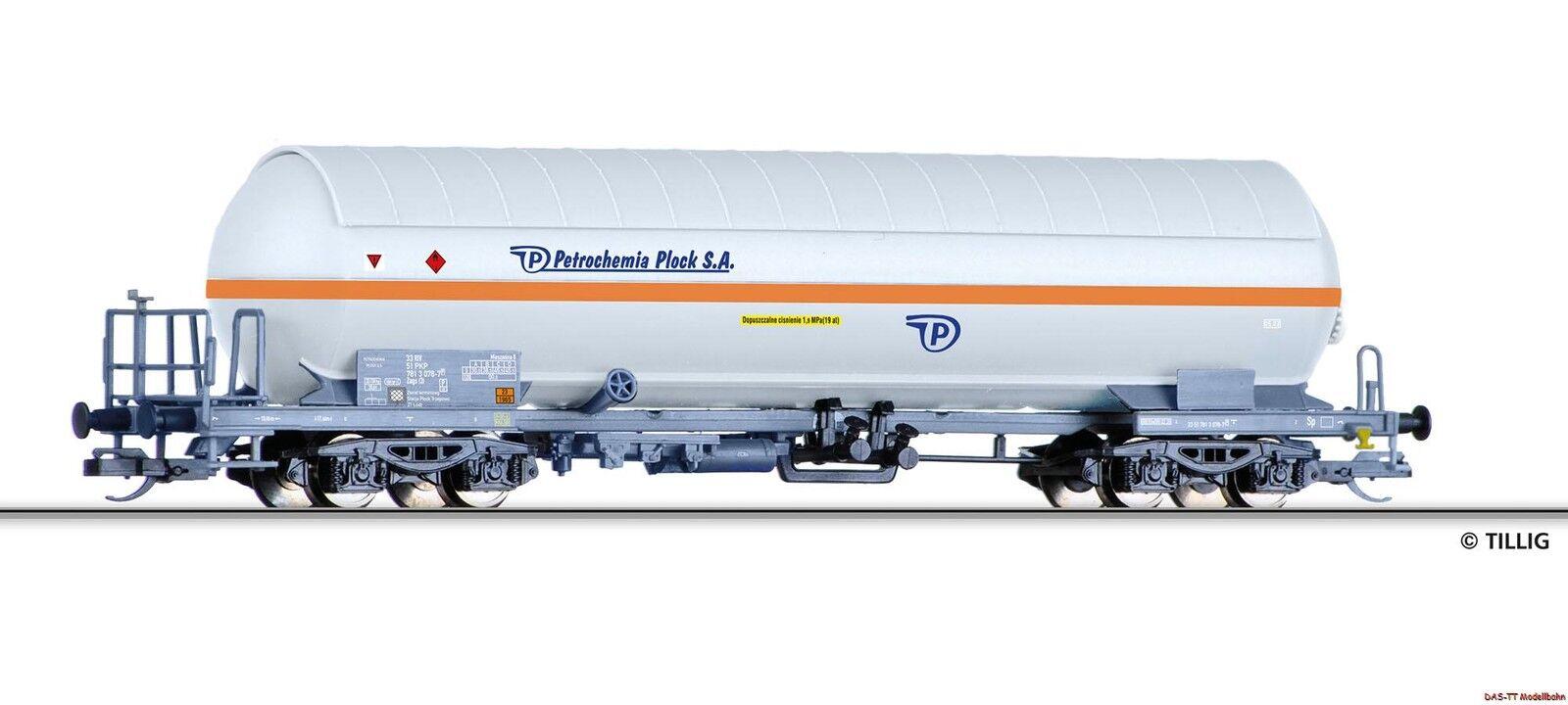 TT Gaskesselwagen Petrochemia mit Sonnenschutzdach PKP  Ep.V Tillig 15031 Neu