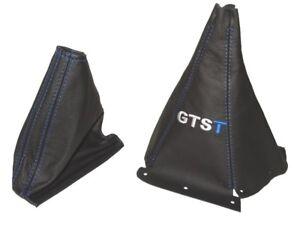 Gear-amp-Handbrake-Boot-For-Nissan-Skyline-R33-1993-1999-Leather-034-GTST-034-Blue-Logo