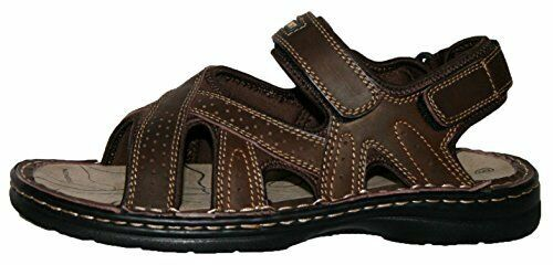 Mens Sandals Brown Northwest Territory Leather Sandals Mens Flat Beach Walking Shoes 2677c5