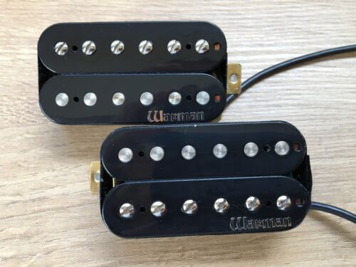 matched pair in black Overwound Hot Humbucker Pickups Warman Infernos