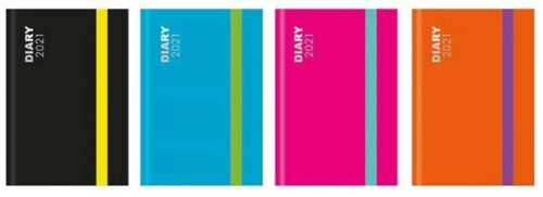 2021 New Year Pocket Diary Neon Colours BLOCK WEEK-TO-VIEW POCKET DIARY