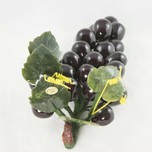 Vintage Chinese Carved Semi Precious Stone Grapes # 4000