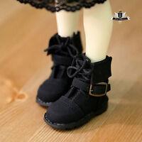 1/4 BJD Shoes MSD Super Dollfie Black Nubuck leather Boots MID DOD LUTS Dollmore