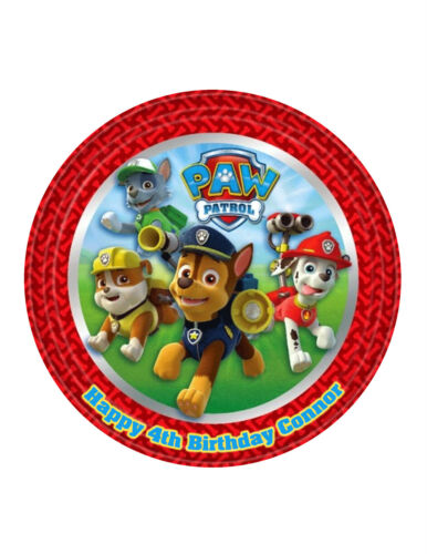 Paw Patrol Cake topper Image Personalised Birthday Decoration Party Topper