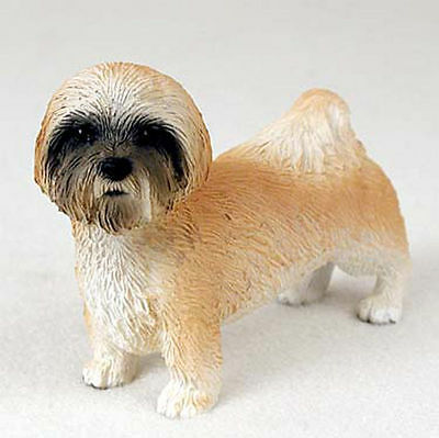 Lhasa Apso Figurine Hand Painted Collectible Statue Brown Sport Ebay