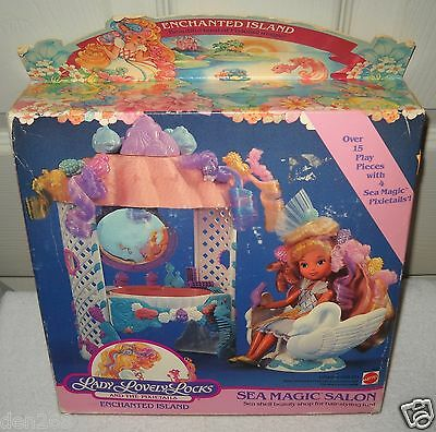 #7419 NRFB Vintage Mattel Lady Lovely Locks Sea Magic Salon Playset (No Doll)