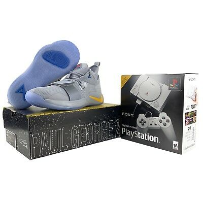 low priced 39112 c8037 Nike PlayStation Shoes PG 2.5 Mens 10.5 + PS1 Classic Console Bundle Wolf  Grey 191888739301 | eBay