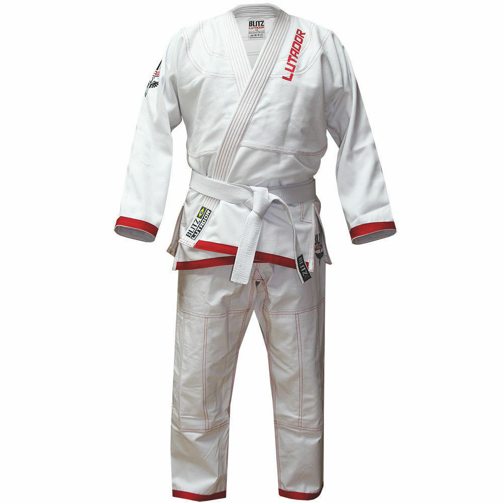 Blitz Adult Lutador Brazilian Jiu Jitsu Gi - White -  BJJ Uniform Suit Training  shop makes buying and selling