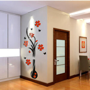 DIY-Vase-Flower-Tree-Crystal-Acrylic-3D-Wall-Stickers-Decal-Vase-Acrylic-Sticker