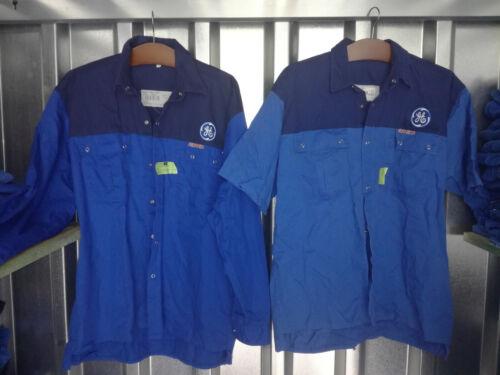 tamaños Ropa de trabajo camisa de trabajo 1//1 brazo azul logotipo ge general electric dif