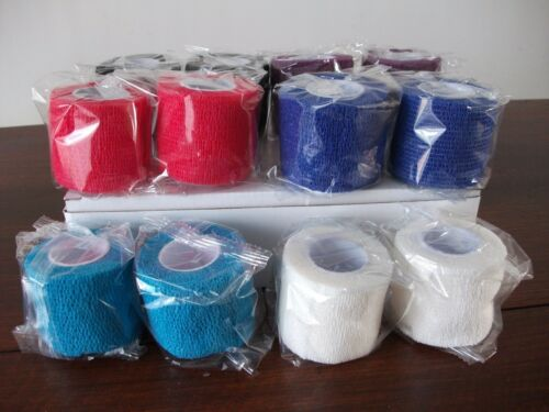 """Elastic Adhesive Bandage 4/"""" x 5 yd Rugby//Sports strapping pack of 12 TOP QUALITY"""