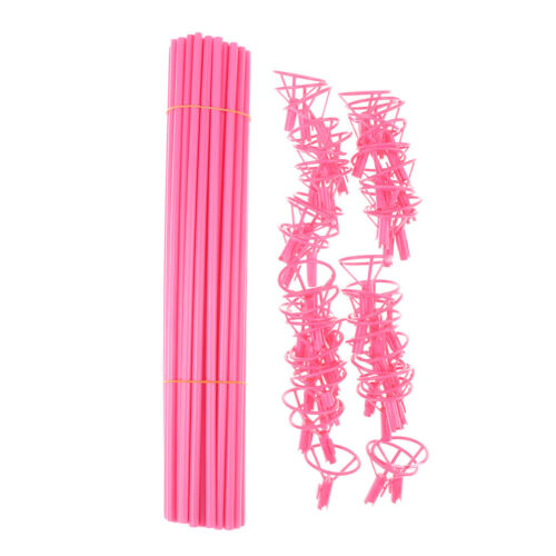 50pcs Foil Balloon Accessories Balloon Holder Sticks with Cups Party Supplies