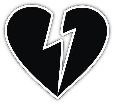 John Mayer Sticker Decal 4 Sizes Heartbreak Heart Guitar